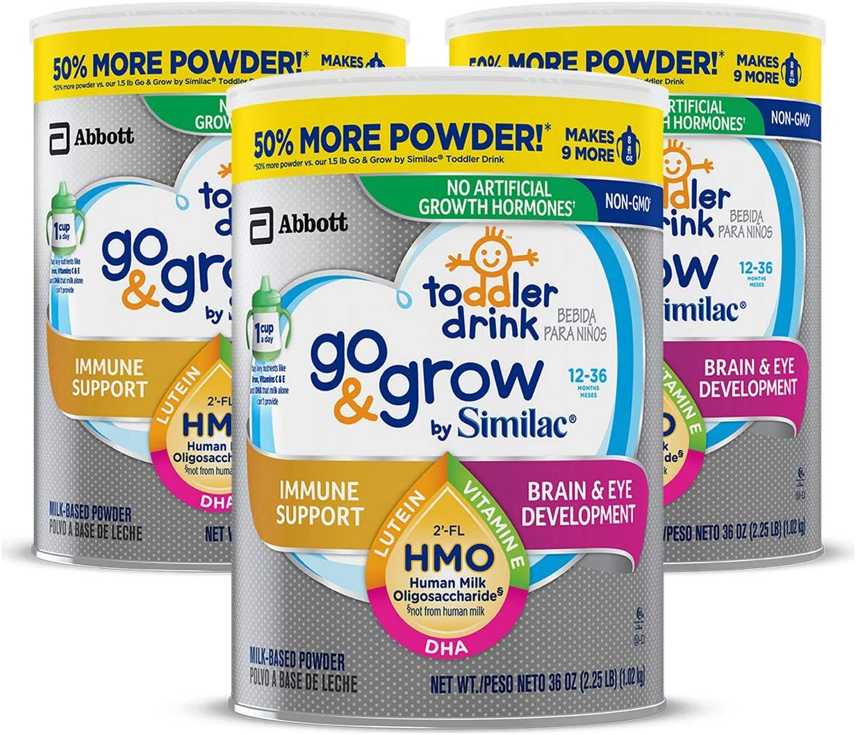 Go & Grow by Similac Toddler Drink - 3 x 36oz