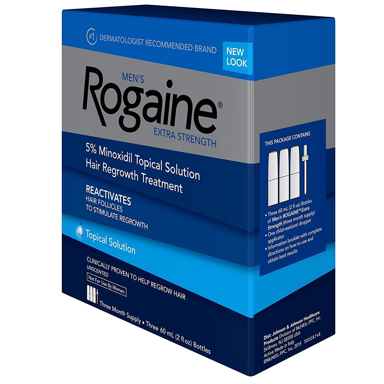 Rogaine Extra Strength 5% Minoxidil Topical Solution - 3 Aylık