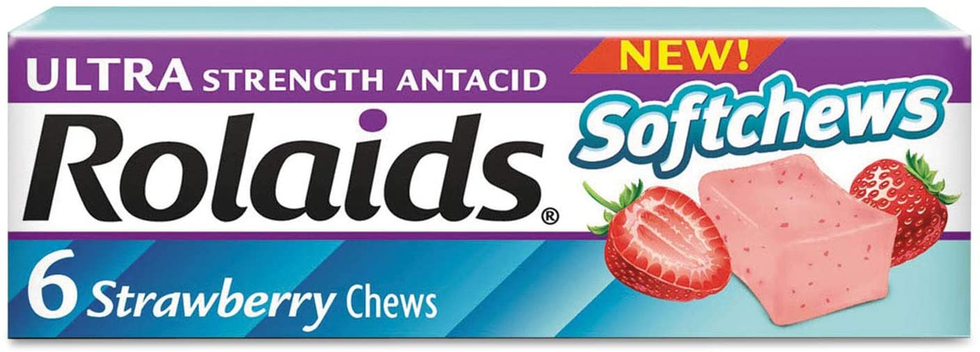 Rolaids Ultra Strength Antacid Softchews Strawberry - 6 x 12 Packs