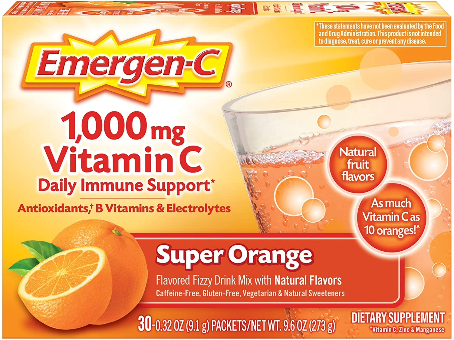 Emergen-C 1000mg Vitamin C Powder - 30 Paket