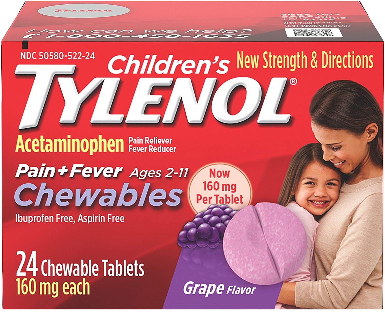 Tylenol Children's Chewables - 24 Tablet