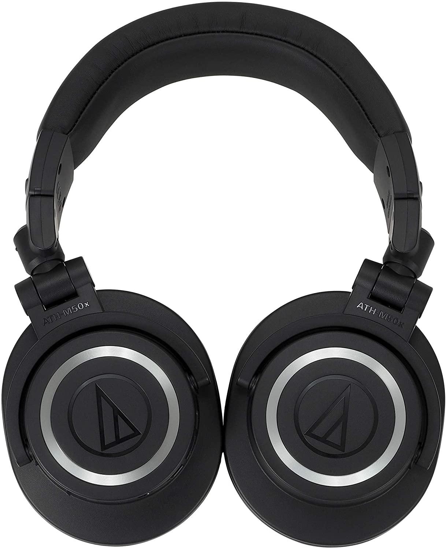 Audio Technica ATHM50XBT Wireless Bluetooth Over-Ear Headphones - Black