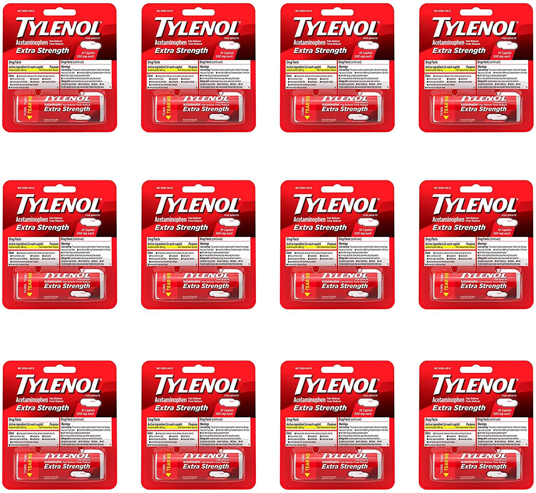 Tylenol Extra Strength - 12 Paket