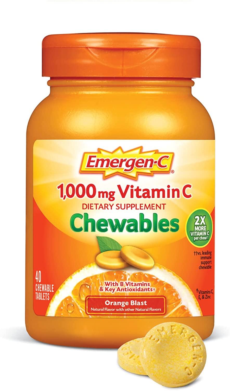 Emergen-C Chewable Vitamin C 1000mg - 40 Tablet