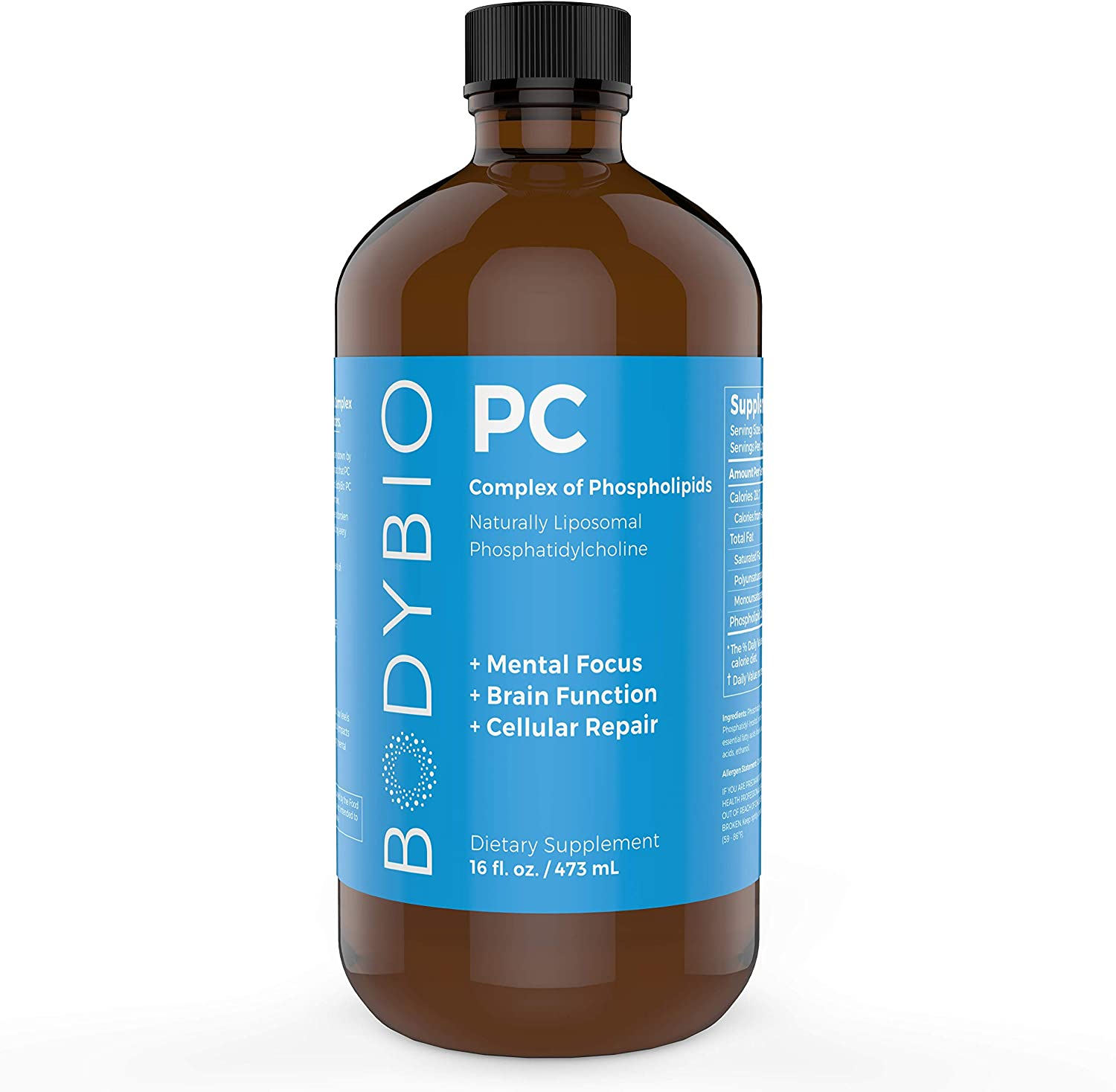BodyBio PC Phosphatidylcholine + Phospholipids - 16 oz