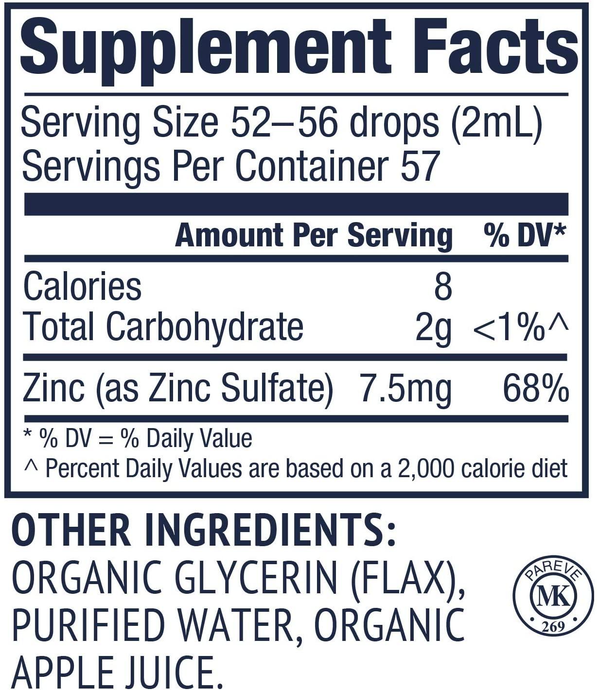 Vimergy USDA Organic Zinc - 115 ml