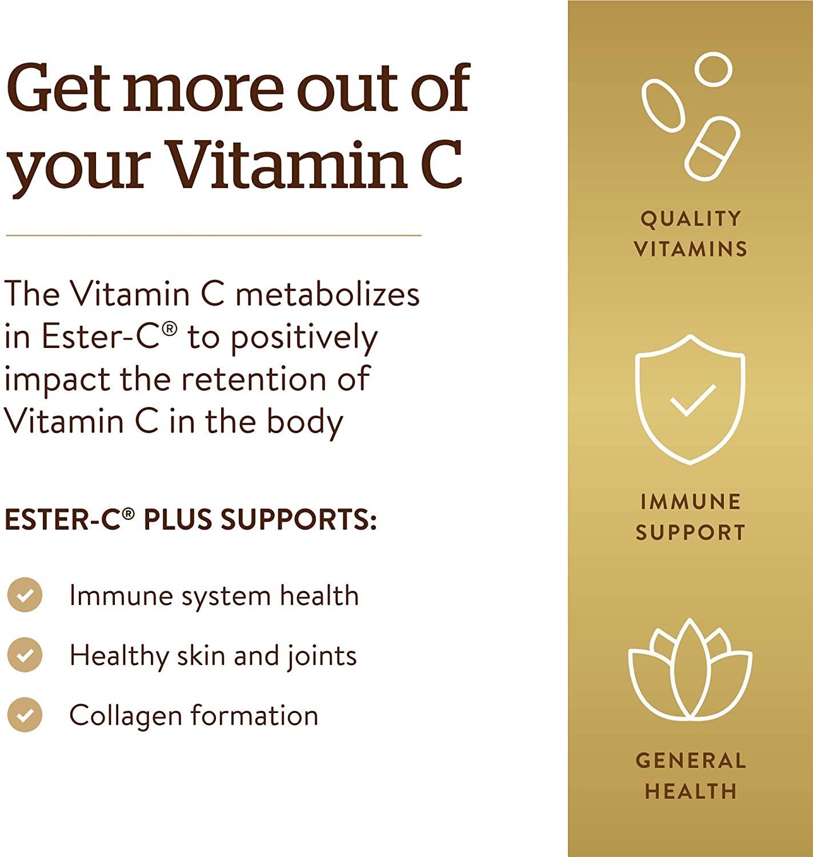 Solgar Ester-C Plus 500 mg Vitamin C - 250 Tablet