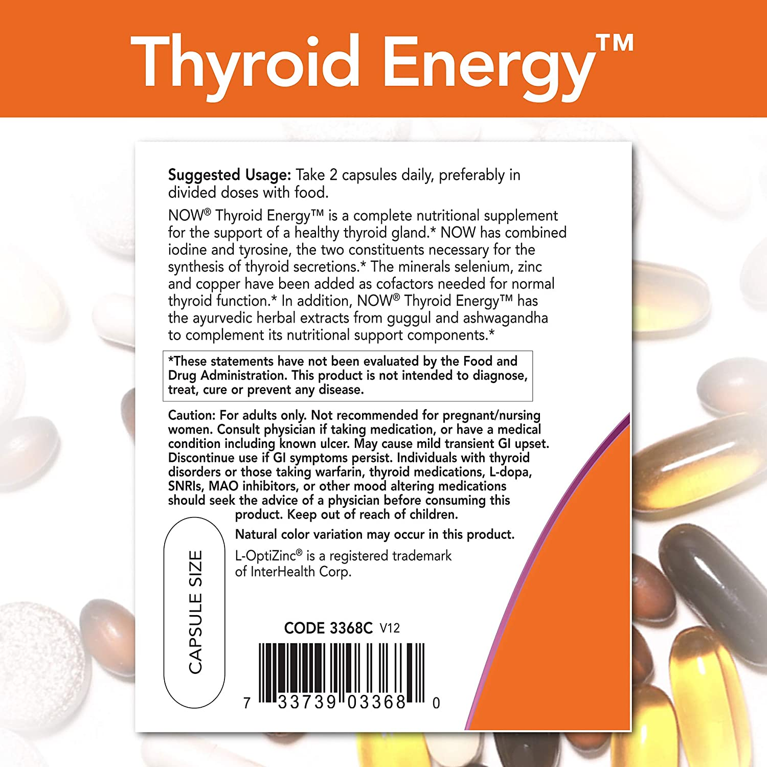 NOW Supplements Thyroid Energy - 180 Tablet
