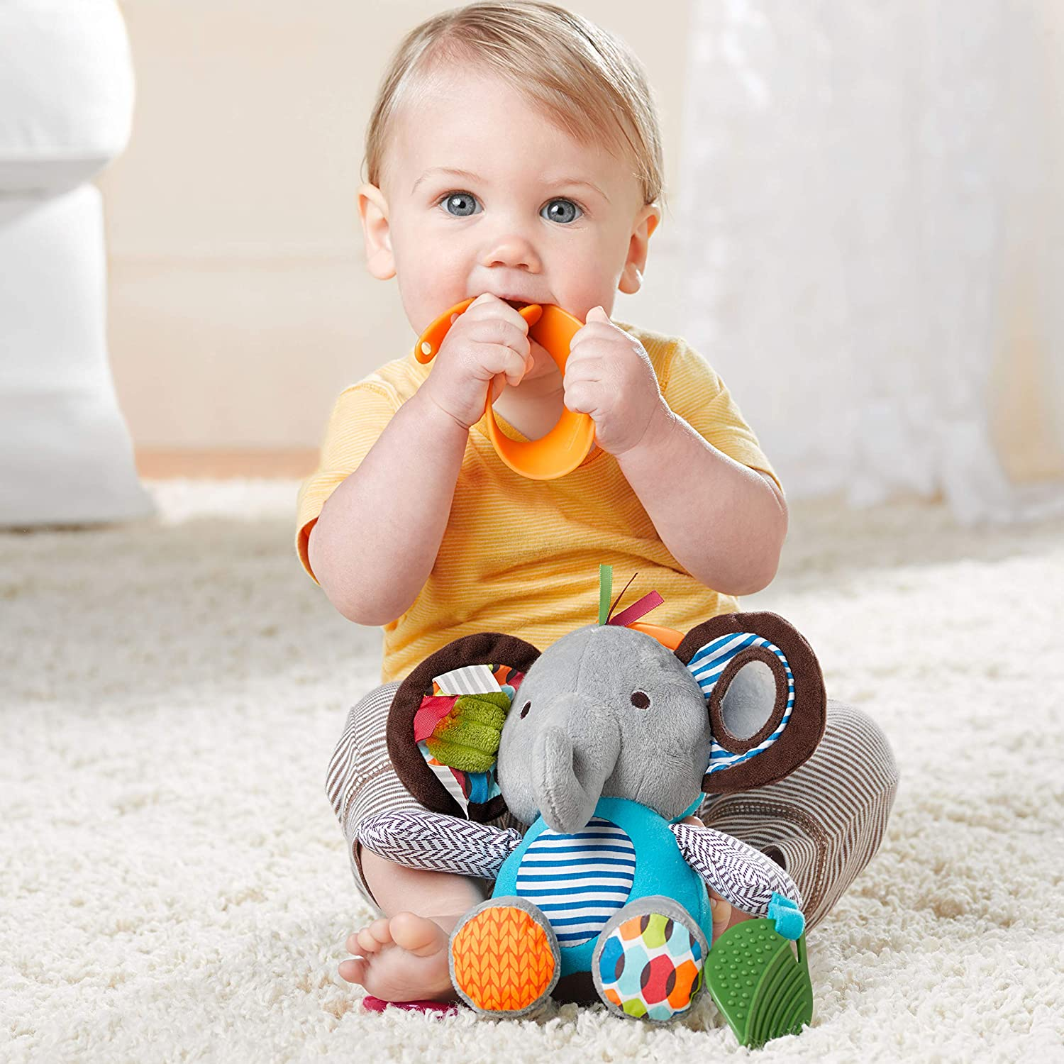 Skip Hop Baby Activity and Teething Toy - Elephant