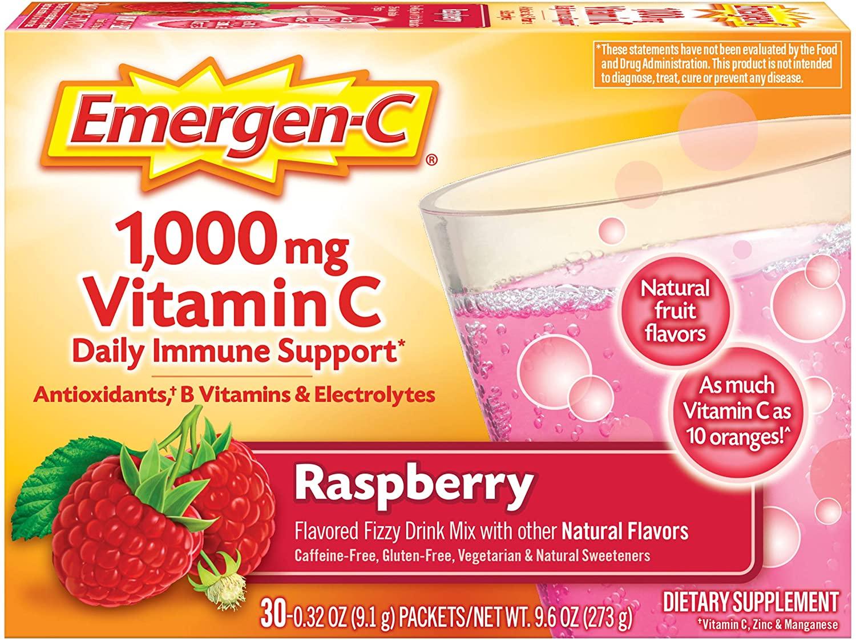 Emergen-C 1000mg Vitamin C Raspberry Flavor - 30 Paket