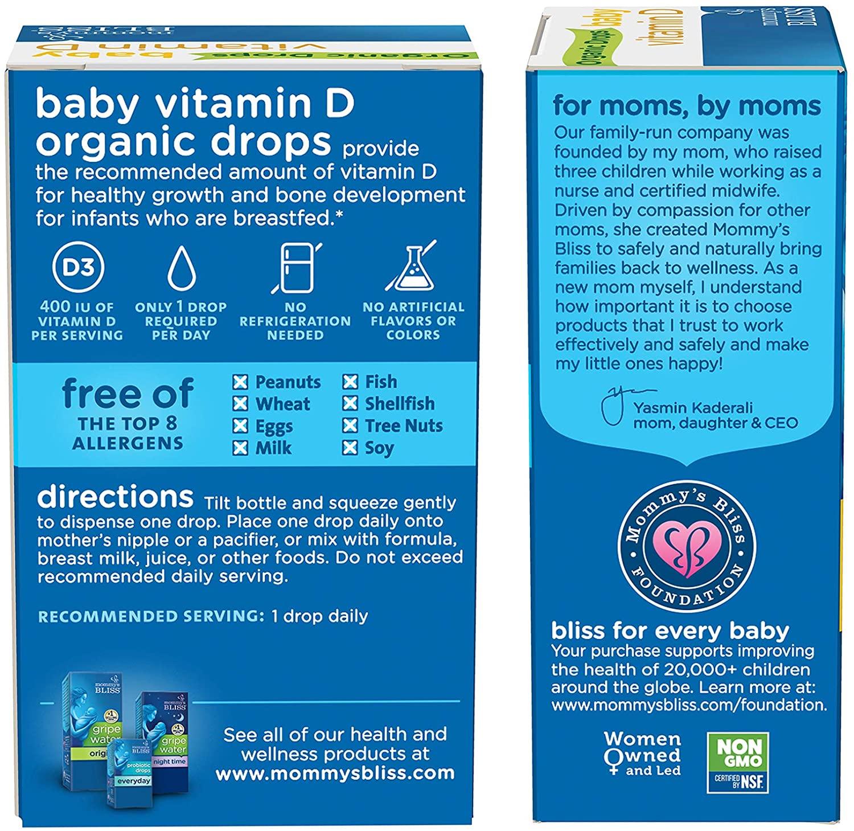Mommy's Bliss Vitamin D - 0.11 Fl Oz