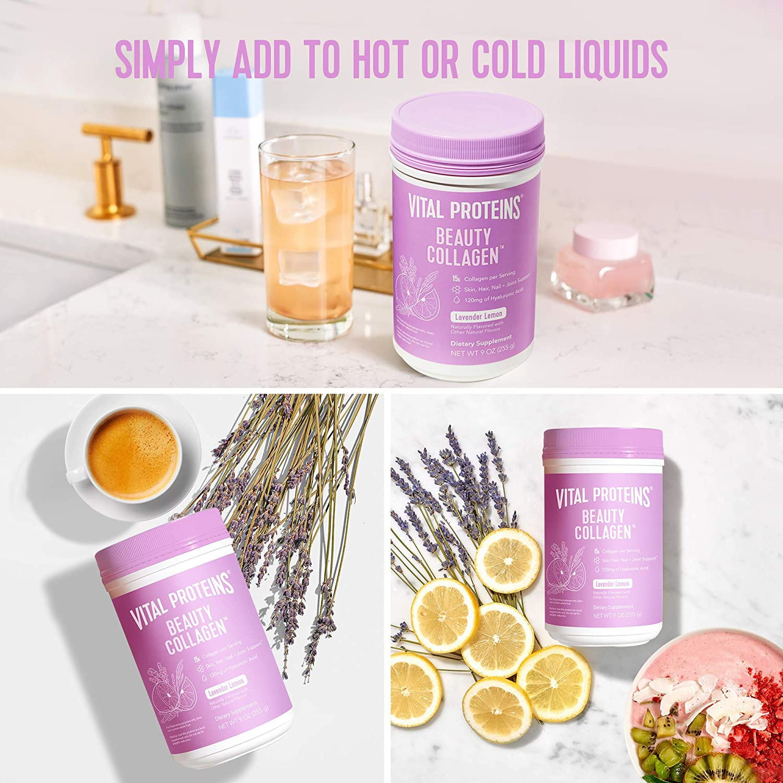 Vital Proteins Beauty Collagen 120mg of Lavender Lemon - 9oz