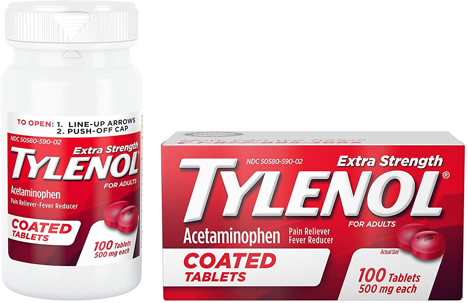 Tylenol Extra Strength Coated Tablets - 100 Tablet