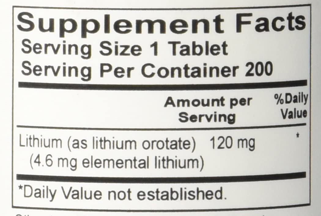Advance Research Lithium Orotate 120 Mg - 200 Tablets