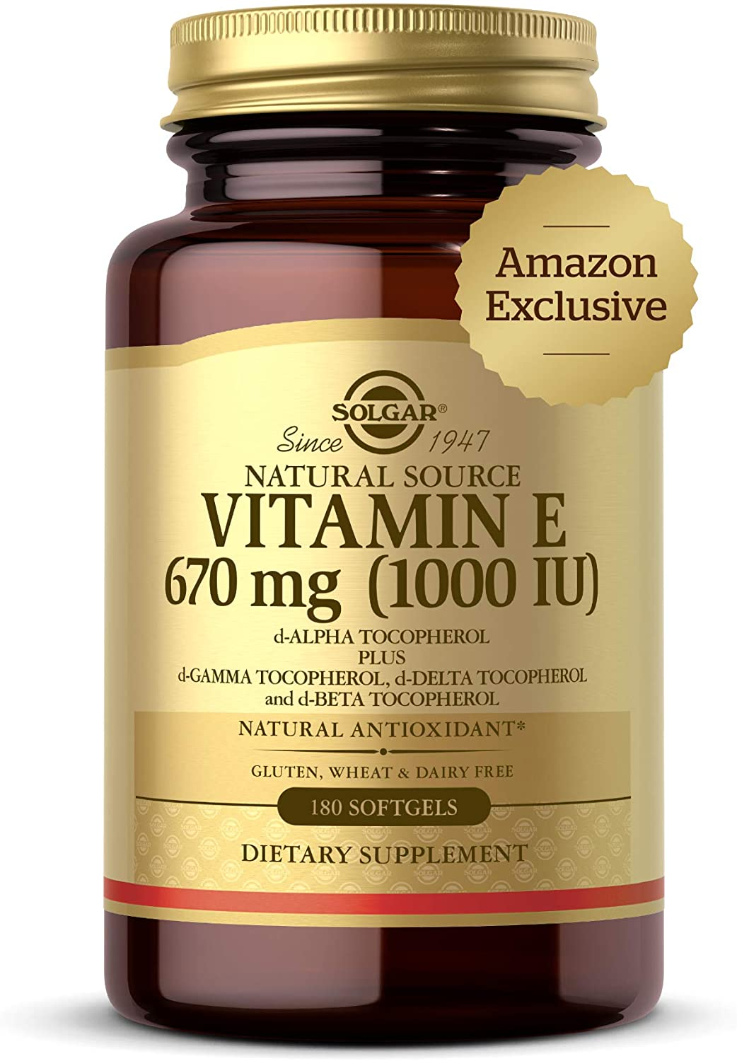 Solgar Vitamin E 670 mg 1000 IU - 180 Tablet