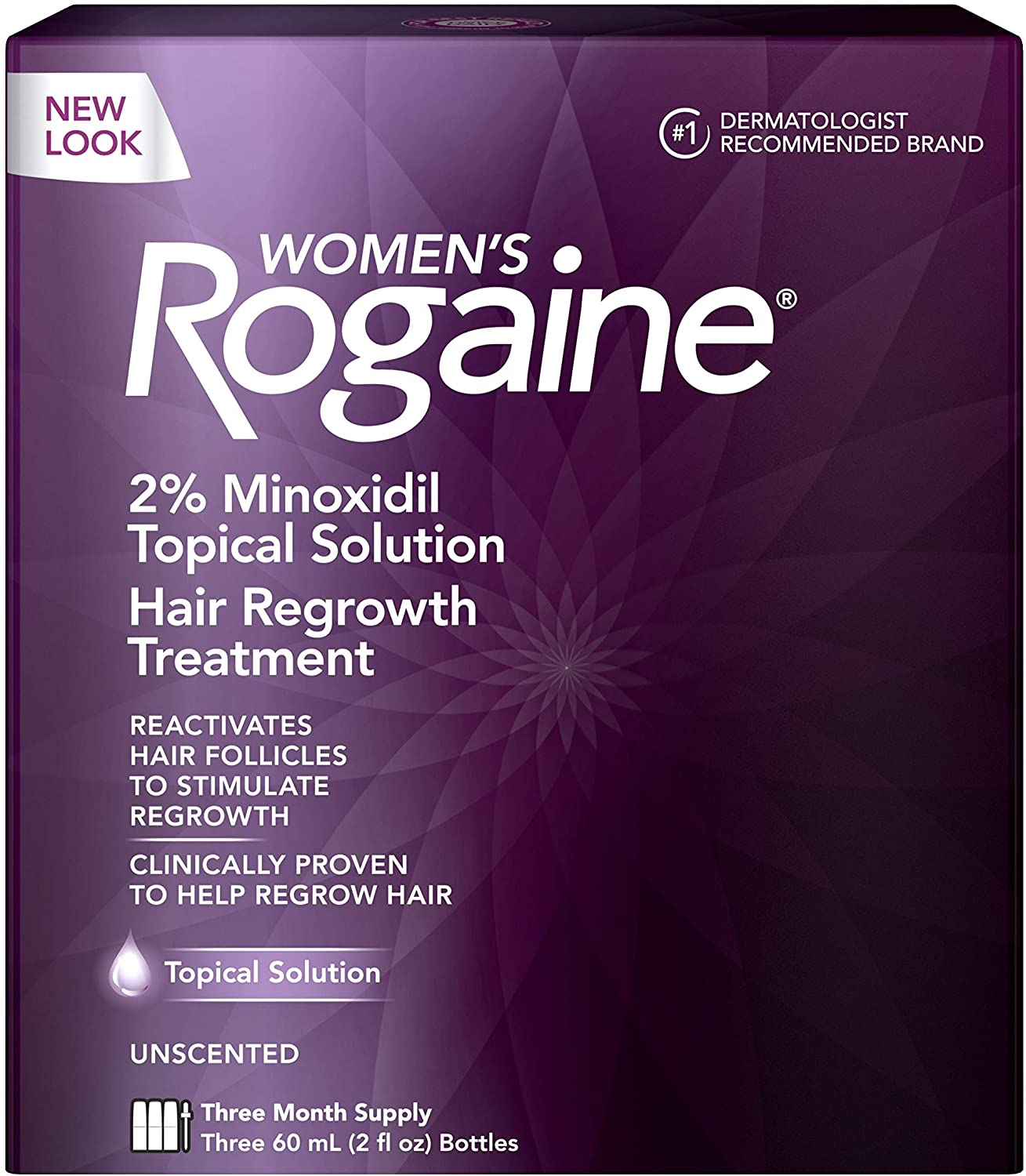 Women's Rogaine 2% Minoxidil Topical Solution - 3 Aylık