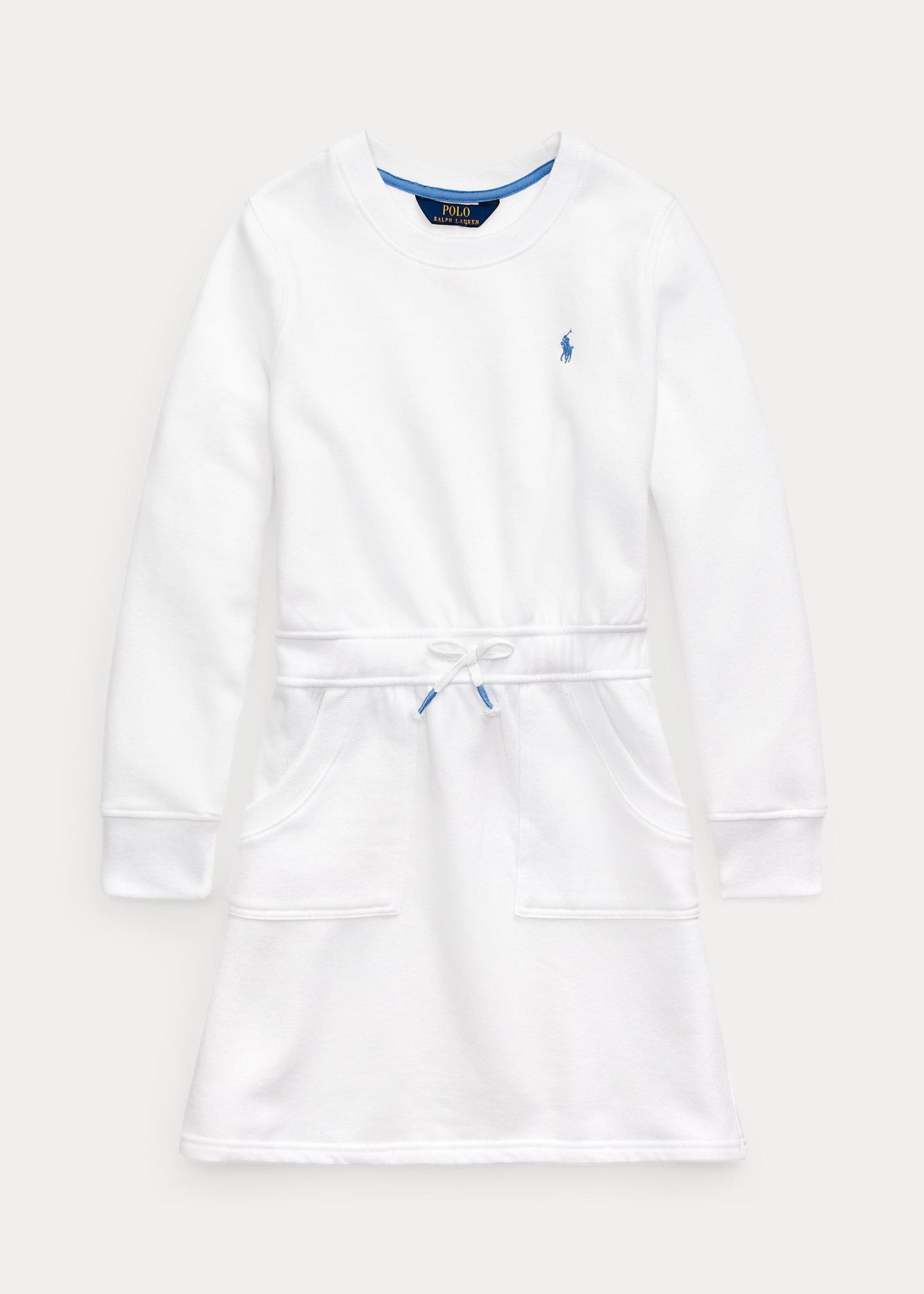 Cotton-Blend-Fleece Dress