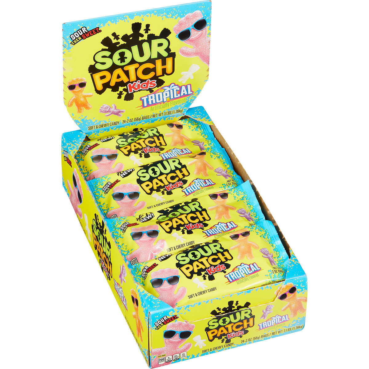 Sour Patch Kids Tropical 2 oz - 24 Adet