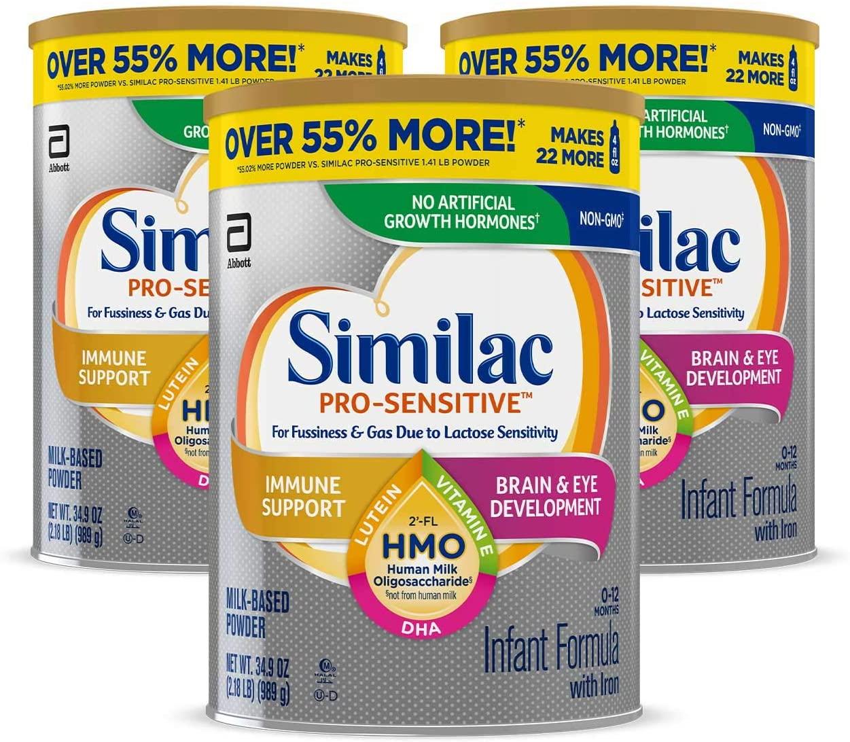 Similac Pro-Sensitive Milk-Based Powder 3'lü kutu - 989 g