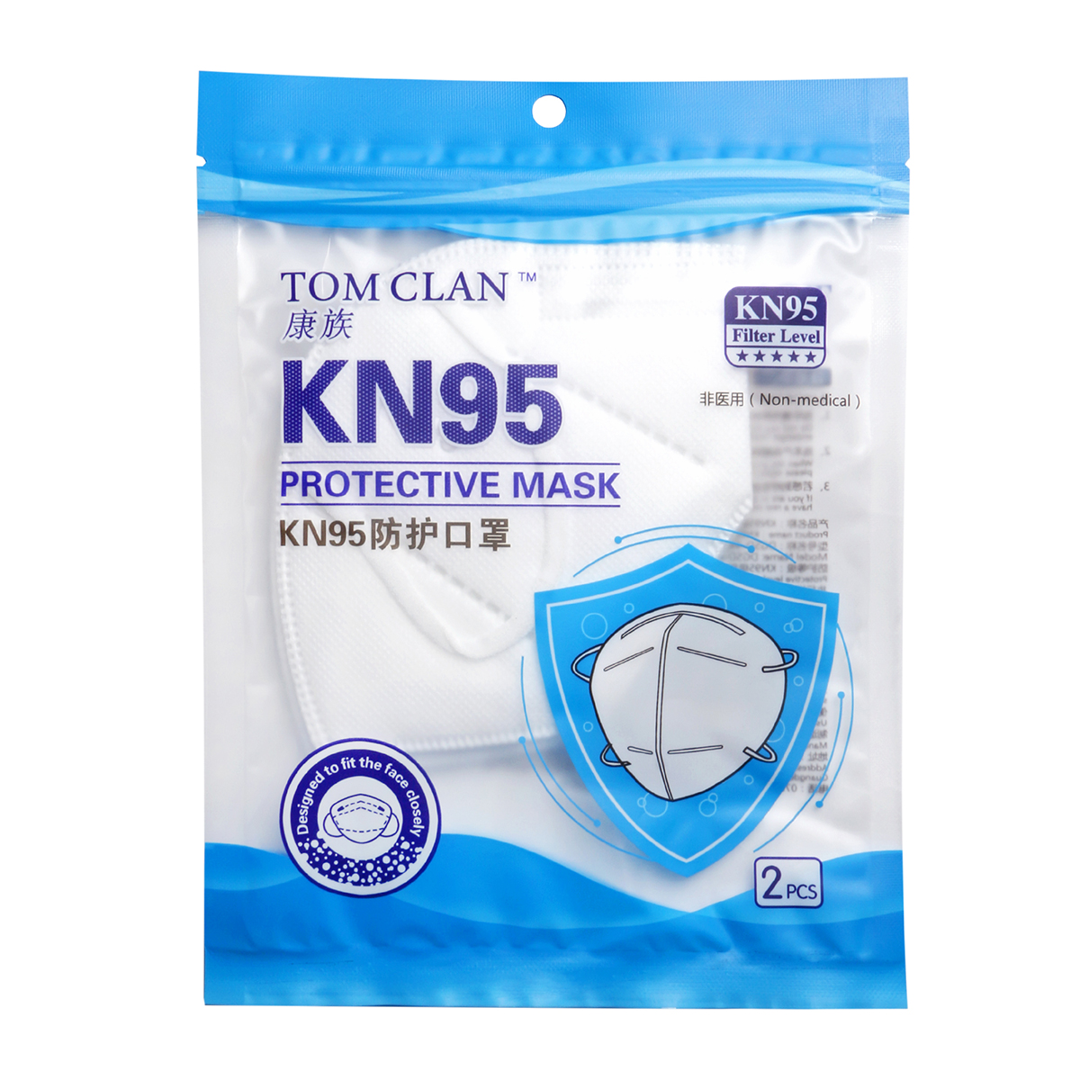 Tom Clan KN95 Mask - 10 Adet