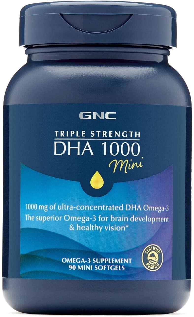 GNC Triple Strength DHA 1000 Mini - 90 Tablet