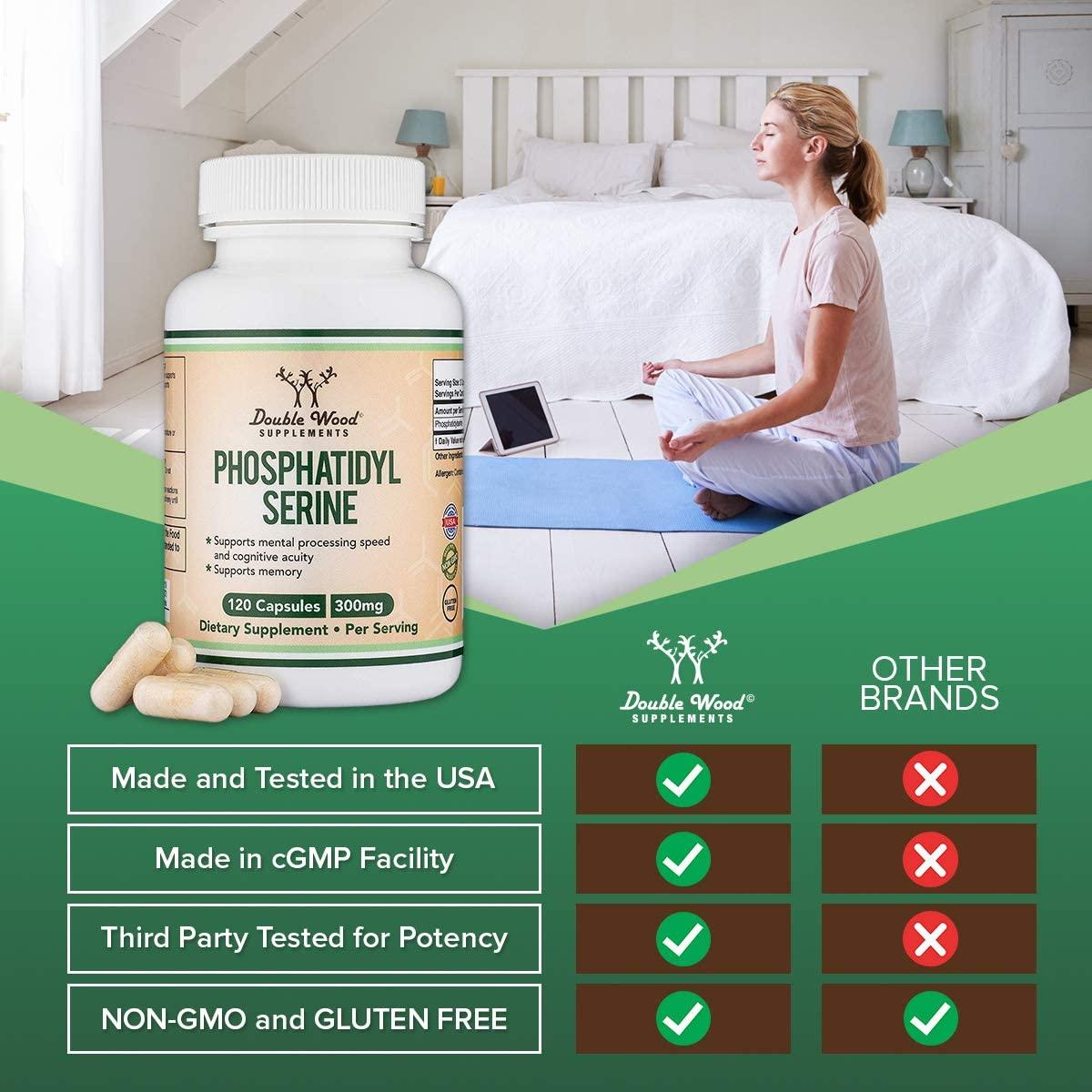 Double Wood Supplements Phosphatidyl Serine 300mg - 120 Tablet