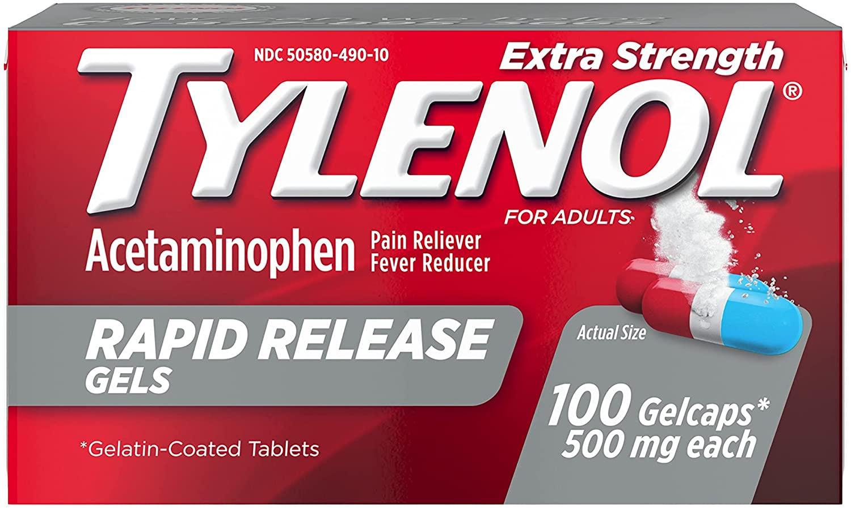 Tylenol Extra Strength Acetaminophen - 100 Tablet