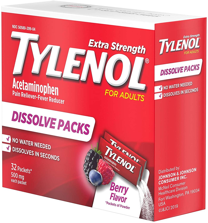 Tylenol Extra Strength Dissolve Packs - 32 Paket