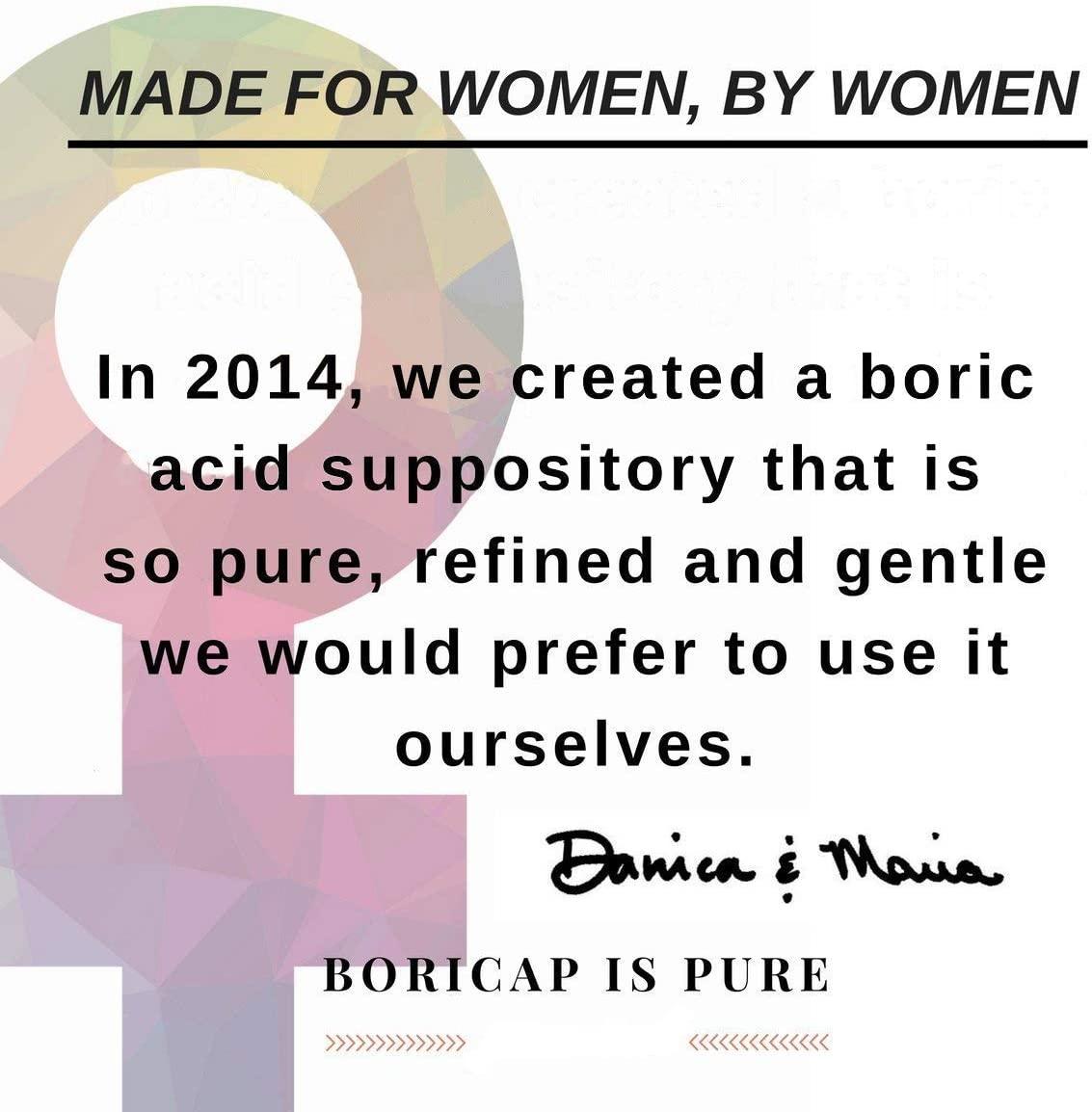 BoriCap Pure Boric Acid Suppositories - 30 Tablet