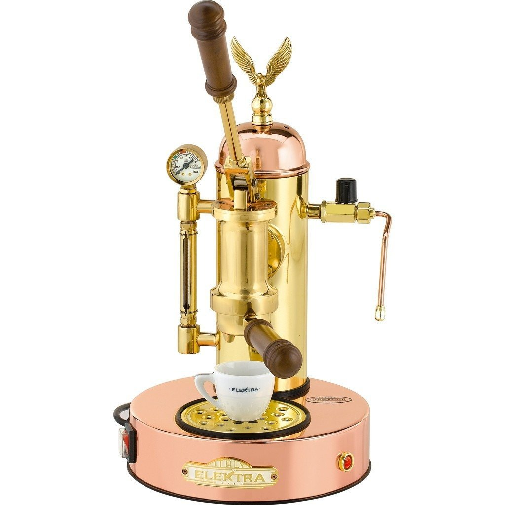 Majesty Coffee Elektra Micro Casa Model Copper & Brass Espresso Machine ART.S1