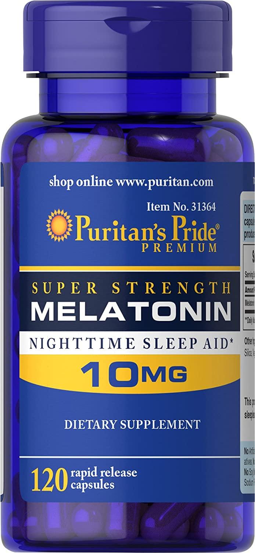 Puritan's Pride Super Strength Melatonin 10 Mg - 120 Tablet