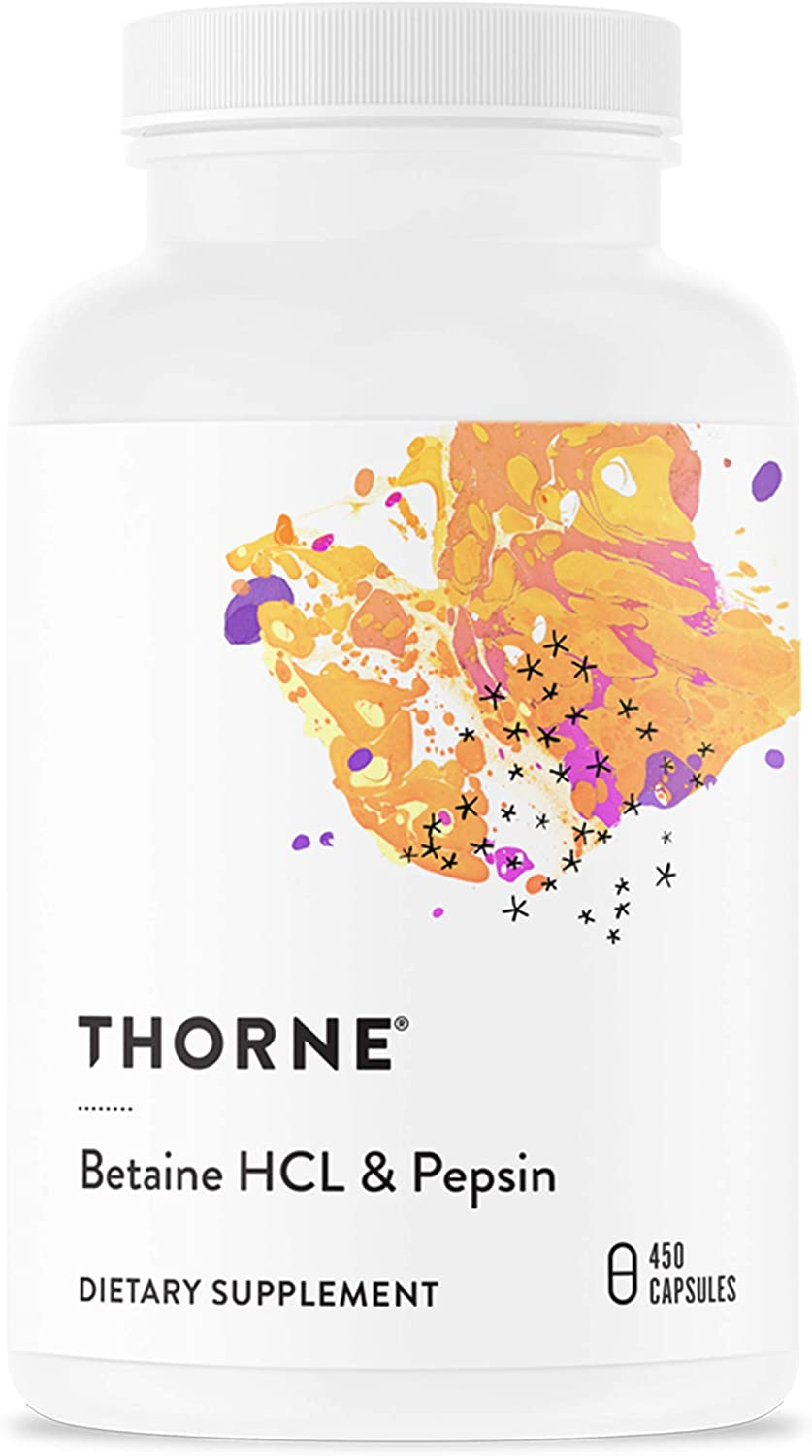 Thorne Research Betaine HCL & Pepsin - 450 Tablet