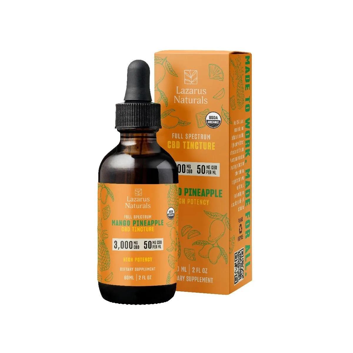 Lazarus Naturals 3000mg CBD Mango Pineapple - 60 ml