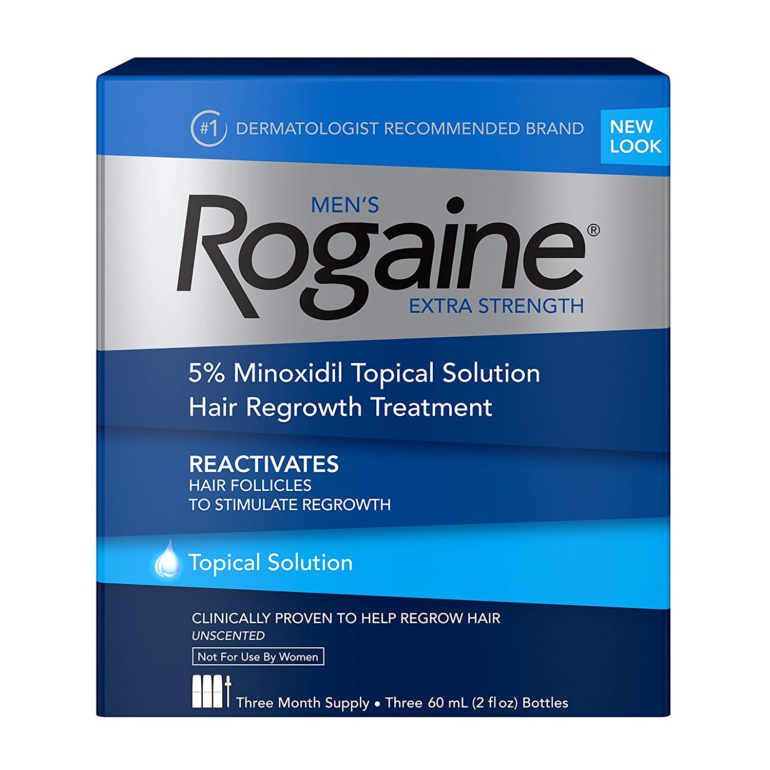 Rogaine Extra Strength 5% Minoxidil Topical Solution - 3 Aylık