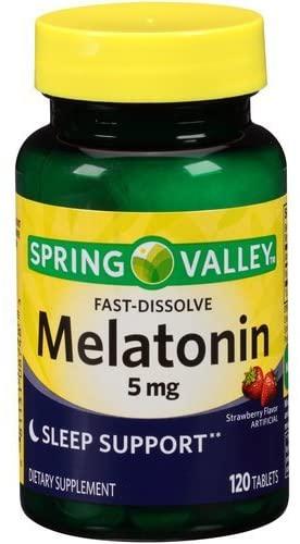 Spring Valley Melatonin Strawberry Fast-Dissolve 5mg - 120 Tablet
