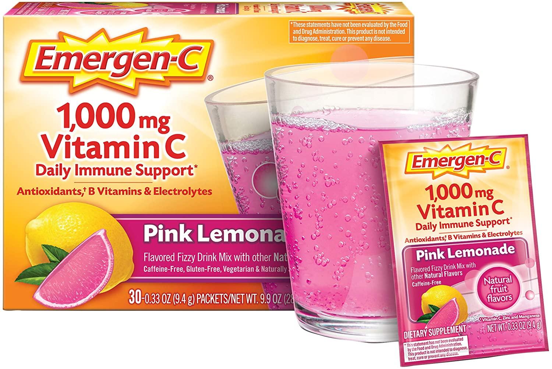 Emergen-C Vitamin C Pink Lemonade Flavor - 30 Paket