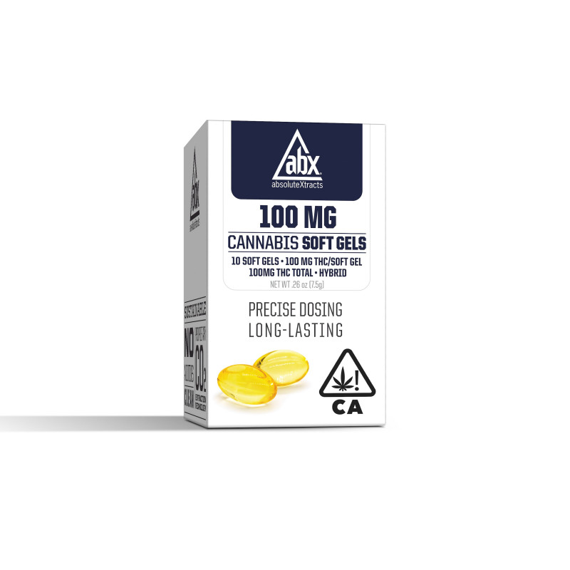 AbsoluteXtracts 100mg THC Softgels - Hybrid