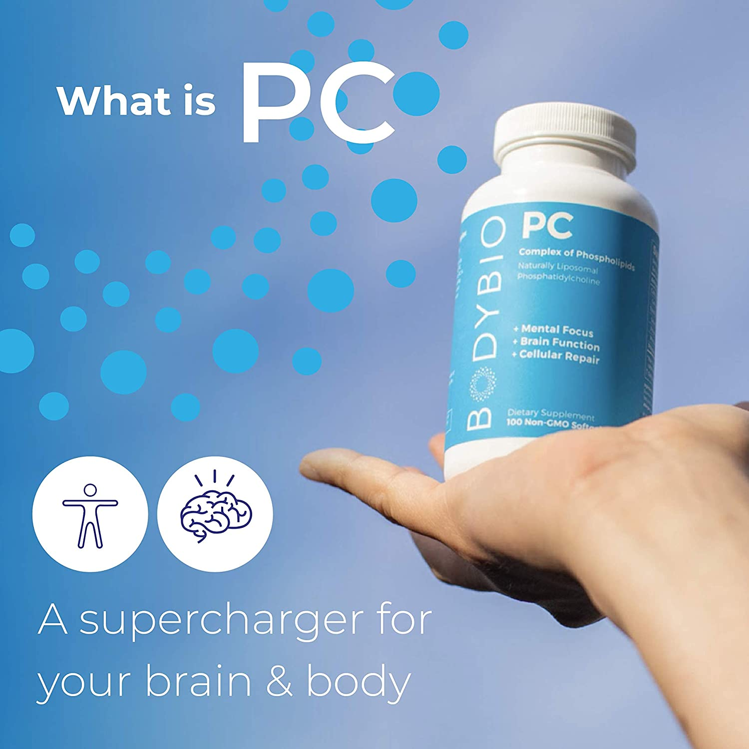 BodyBio PC Phosphatidylcholine + Phospholipids - 60 Tablet
