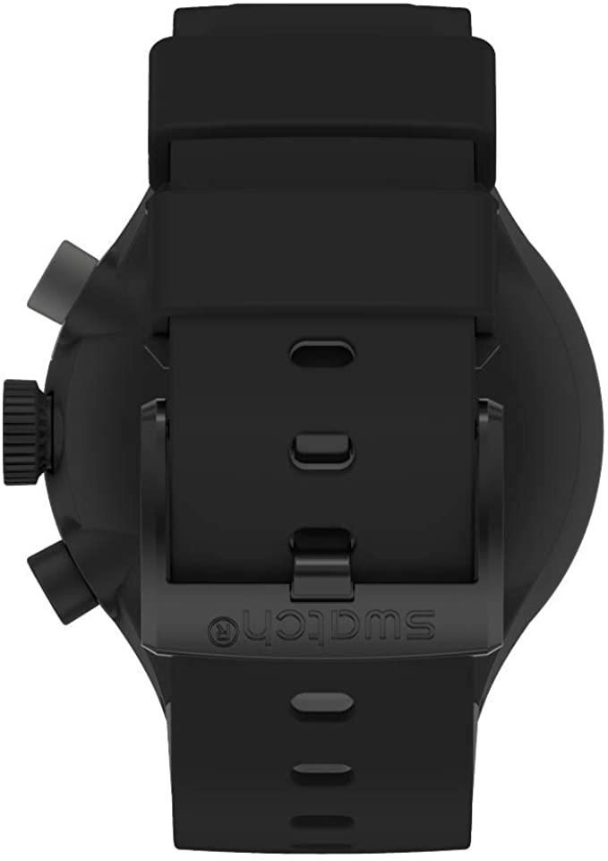 Swatch Quartz Silicone Strap - Black (Model: SB02B400)