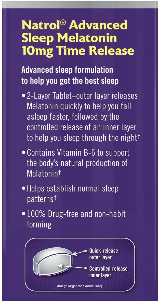 Natrol Melatonin Advanced Sleep 10mg - 100 Tablet