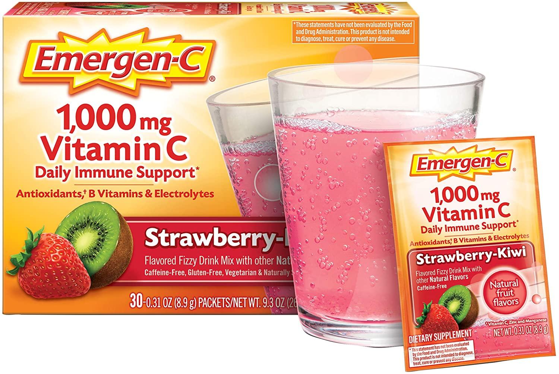 Emergen-C Daily Immune Support Strawberry Kiwi Flavor - 30 Paket