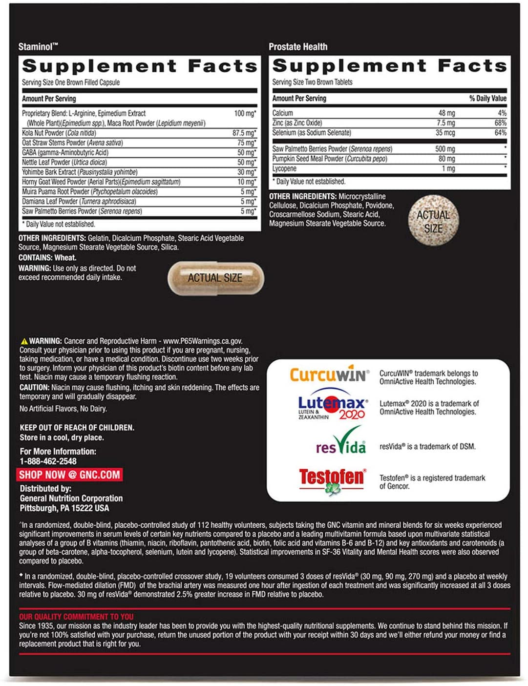 GNC Mega Men Healthy Testosterone Vitapak - 30 Packs