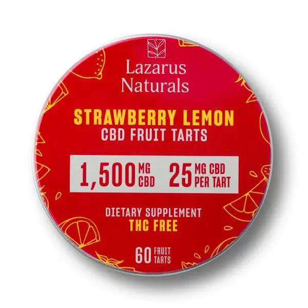 Lazarus Naturals Strawberry Lemon CBD Fruit Tarts - 60 Adet