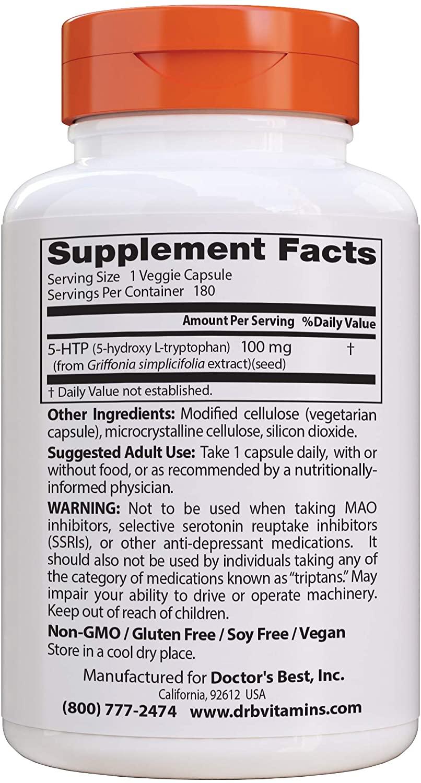 Doctor's Best 5-HTP - 180 Tablet